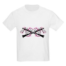 Clarinets with Pink Swirls T-Shirt