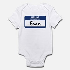 Hello: Evan Infant Bodysuit