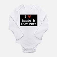i heart boobs and fast cars Body Suit
