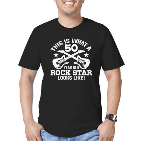 50 Year Old Rock Star Men's Fitted T-Shirt (dark)