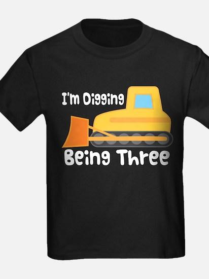 3rd Birthday Bulldozer Truck T-Shirt
