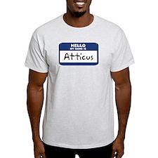 Hello: Atticus Ash Grey T-Shirt