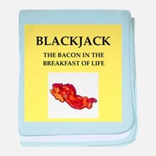 BLACKJACK baby blanket