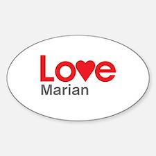 I Love Marian Decal