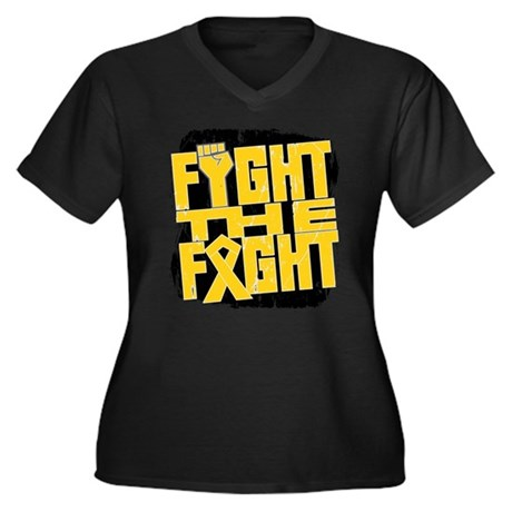 Fight The Fight Childhood Cancer Women's Plus Size