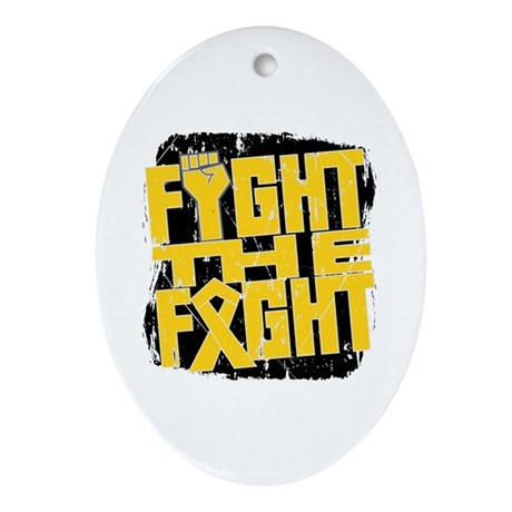 Fight The Fight Childhood Cancer Ornament (Oval)