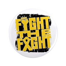 "Fight The Fight Childhood Cancer 3.5"" Button"