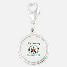 My Identity Djibouti Silver Round Charm