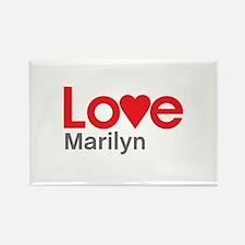 I Love Marilyn Rectangle Magnet