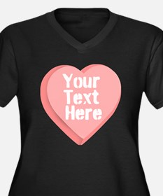Candy Heart Plus Size T-Shirt