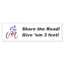 Share the Road! Bumper Bumper Sticker