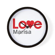I Love Marisa Wall Clock