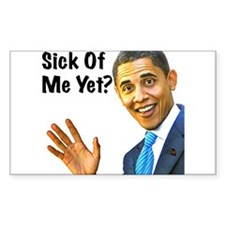 Sick of Obama? Decal