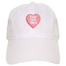 Candy Heart Baseball Baseball Cap
