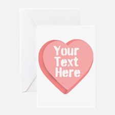 Candy Heart Greeting Card