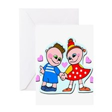 Adorable Hand Holding Hands Greeting Card
