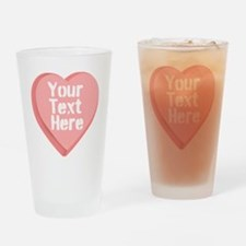 Candy Heart Drinking Glass