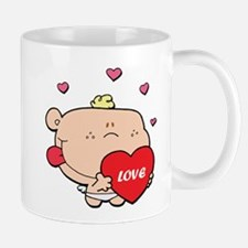 Adorable Blonde Haired Cupid Mug