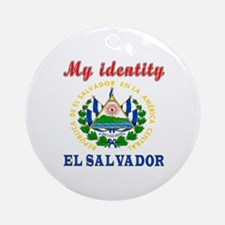My Identity El Salvador Ornament (Round)