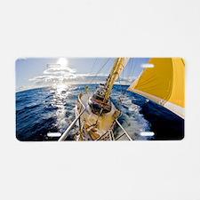 Cute Sailing Aluminum License Plate