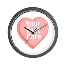Candy Heart Wall Clock