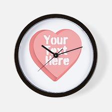 Candy Heart Wall Clock
