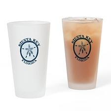 Siesta Key - Sand Dollar Design. Drinking Glass