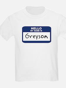 Hello: Greyson Kids T-Shirt
