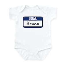 Hello: Bruno Infant Bodysuit