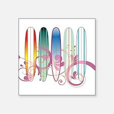 Board Swirl Rectangle Sticker