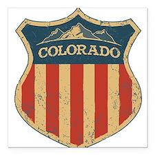 """Colorado Shield Square Car Magnet 3"""" x 3"""""""