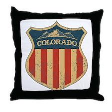 Colorado Shield Throw Pillow