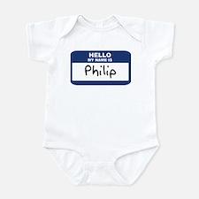 Hello: Philip Infant Bodysuit