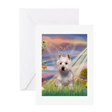 CARD-CldStar-WestieP Greeting Cards