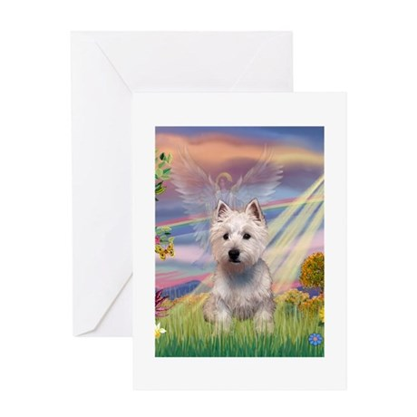 CARD-CldStar-WestieP Greeting Cards