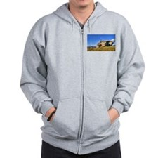Stone house in eolic park, Fafe Zip Hoodie