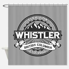 Whistler Grey Shower Curtain