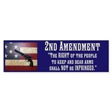 2nd Amendment/Blue Bumper Sticker