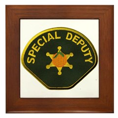 Orange County Special Deputy Sheriff Framed Tile