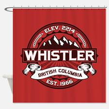 Whistler Red Shower Curtain