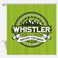 Whistler Green Shower Curtain