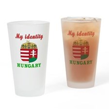 My Identity Hungary Drinking Glass