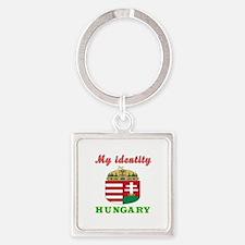 My Identity Hungary Square Keychain