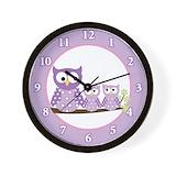 Owl wall clocks for girls Wall Clocks