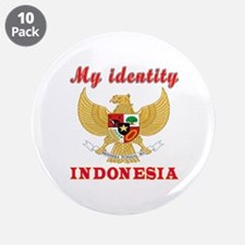 "My Identity Indonesia 3.5"" Button (10 pack)"