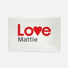 I Love Mattie Rectangle Magnet