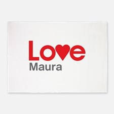 I Love Maura 5'x7'Area Rug