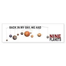 Pluto Bumper Bumper Sticker