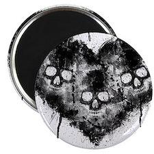 Black Skull Heart Grunge Magnet