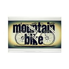 Mountain Bike Rectangle Magnet